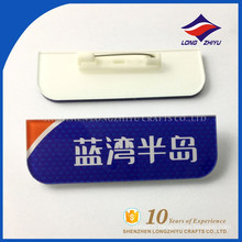 Insigne de nom en plastique à prix abordable avec très bonne qualité