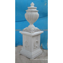 Stone Marble Flower Vase for Garden Ornament (QFP305)