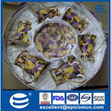 stock promotion sale elegant European fine bone china tea set cups with saucers