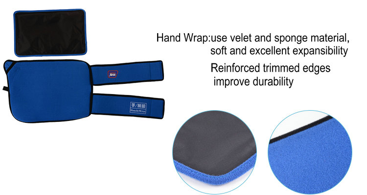 Hand hot cold wrap