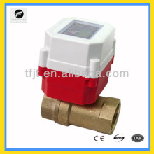 "Mini 2-way DC3.6V G1"" Li battery RF IC card control electric shut-Off valve for automatical control heating project"