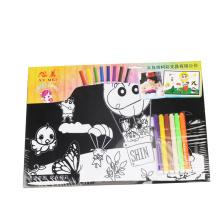 niños lindo colorear pósters de terciopelo borroso