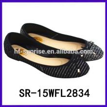 2015 zapatos planos de China de las señoras al por mayor zapatos al por mayor zapatos de China