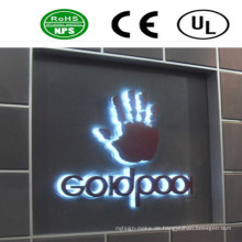 LED-Rückseite beleuchtetes Kanal-Buchstabe-Zeichen