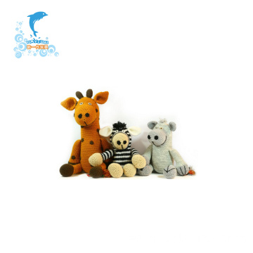 Custom Zoo Animal Set Giraffe Plush Toy