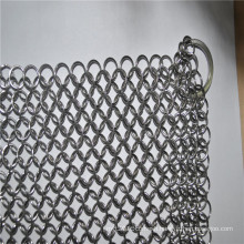 Stainless steel chainmail scrubber / Cast iron cleaner for cooking pan