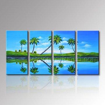 100% handgemalte Seelandschaft Ölgemälde für Wanddekoration (SE-310)