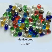 Grânulos de vidro transparentes coloridos para decoração