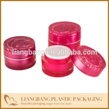 Pot de toilette en pot rose 2015 à trois dimensions et nouveau récipient cosmétique acrylique