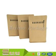 Haute Qualité Fabricants Logo Personnalisé Emballage Biodégradable Bloc Fond Kraft Papier Sacs De Café Valve