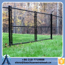 top quality used chain link fence for sale, steel construction chain link fence