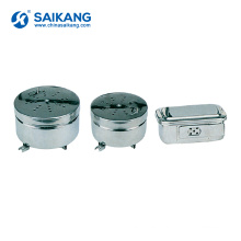 SKN021 Hospital Stainless Steel Steam Medical Sterilization Container