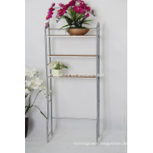 Wood Shelves Over the Toilet Shelf Storage\Elegance Chrome Material Bath Self\Space Saving Self for Bath Room