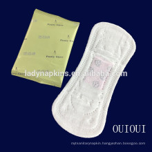Disposable ultra thin topsheet anion ginseng herbal panty liner for women