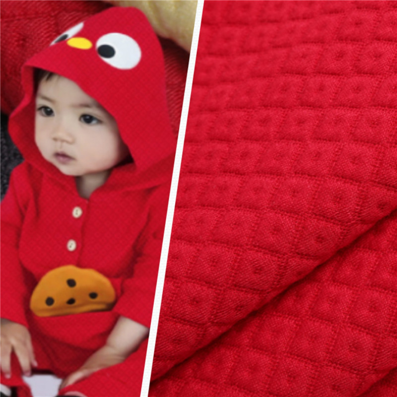 No Pilling Knitted Air Layer Nice Jacquard Baby Fabric