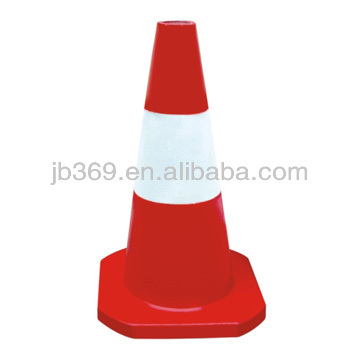 Red and White Plastic traffic cone