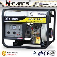 Ensemble de générateur diesel type à cadre ouvert refroidi par air (DG2500E)