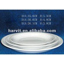 Solid Pure White Restaurant / Hôtel / Homeware / Daily Used Round Fine Porcelain Plats et assiettes