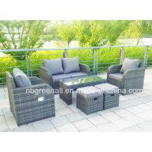 Lay Down muebles de jardín de ratán al aire libre (GN-9103-1S)
