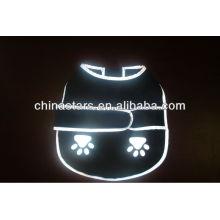 EN471 / ANSI negro perro reflexivo ropa con logotipo personalizado
