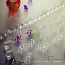 Nouveau rideau de talon en plastique élégant et élégant