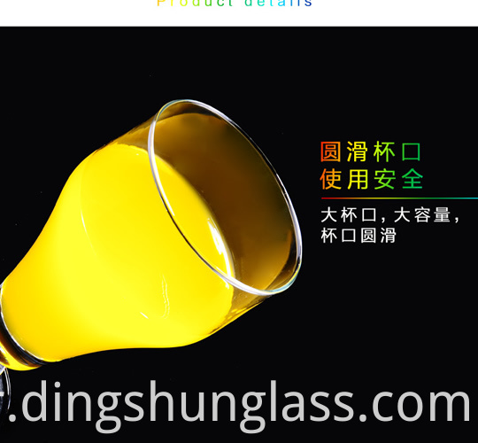 Creative transparent glass cup