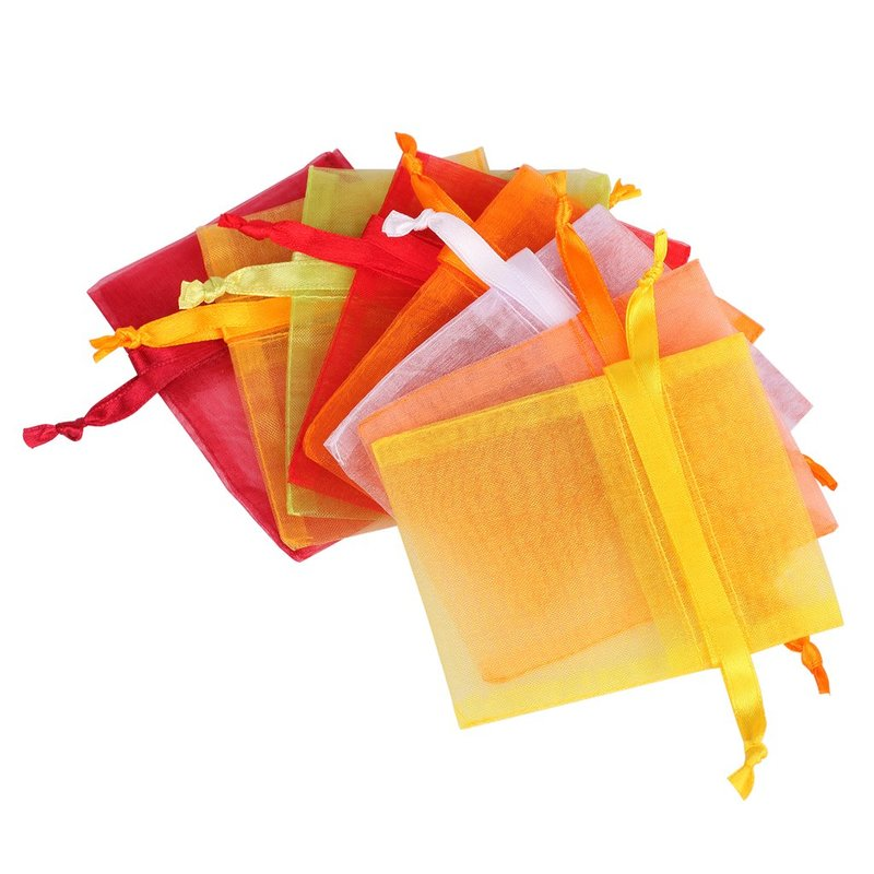 Wholesales drawstring candy organza bag