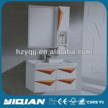 White Lacquer Waterproof Bathroom Storage Cabinets Bathroom Towel Cabinet