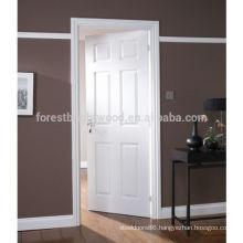 6 Panel Pre Painted Woodgrain Gloss Internal Door