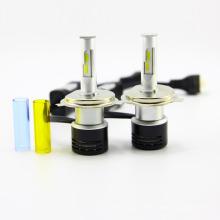 Faróis mais brilhantes no mercado V5 (h4) levou lâmpada do farol levou luz principal com ventilador de refrigeração inteligente