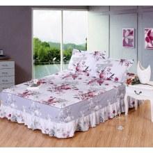 Impreso amueblada cama falda King/queen Size