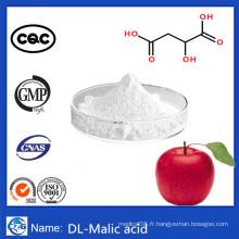 99% Poudre d'additifs alimentaires de pureté CAS 617-48-1 Acide Dl-Malique