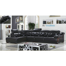 Top Grain Living Room Leather Sofa with Corner (A23)