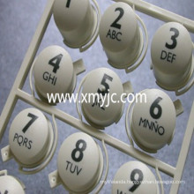 Rubber Silicone Keypad with Plastic Cover