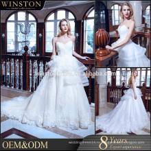 Производители OEM с плеча свадебные платья с рукавами