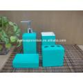 Bath accessory & blue ceramic bathroom set for gift