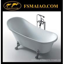 Tina de baño clásica real auténtica de acrílico (BA-8307B)