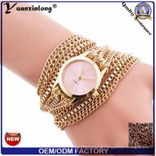 Yxl-417 mulheres de cadeia longa envoltório em torno do relógio tecer senhora pulseira relógios moda vogue quartzo senhoras relógio de pulso