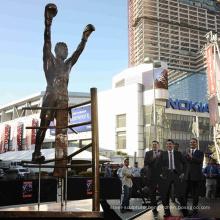 large garden outdoor copper sculptures metal craft bronze boy boxing statue
