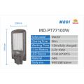 LED de luz solar de rua 100W