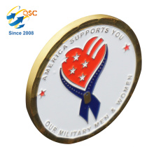 Comercio al por mayor 3D Antique Custom Custom Design Custom Soft Enamel Challenge Manufacturers Cheap Custom Coin