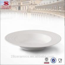 Plaque à soupe de bonne qualité, Assiette à soupe en céramique blanche, Vaisselle pour Hôtel et restaurant
