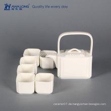 Plain White Square Design Chinesische Kultur Element Antique China Tea Set, Fine Ceramic Miniatur Tee Sets