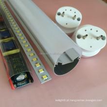 Conjunto de perfis SKD de caixa de tubo LED T8 Kits de alumínio