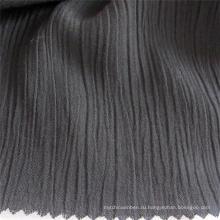 Ткань из вискозы из спандекса и черного крепа для одежды