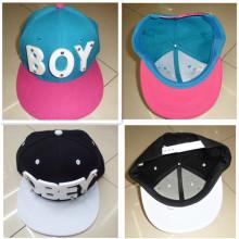 3D BOY Letras empernado remaches HipHop Baseball Cap sombrero plano pico Snapback studed tapa de promoción hecha a mano