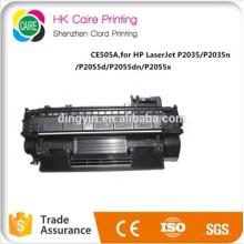 Precio de fábrica compatible CE505A Cartucho de tóner para HP Laserjet P2035 / P2035n P2055D / P2055dn / P2055X