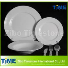 32PC Fine Porcelain White Dinner Set mit Besteck (WD-004)