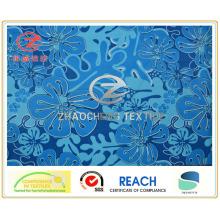 Обычная печать на цветке из микроволокна, ткань для одежды (ZCGP048)