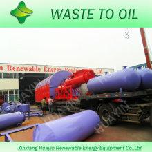 10 toneladas de desenrollado convirtiendo plástico de desecho en planta de fuel oil